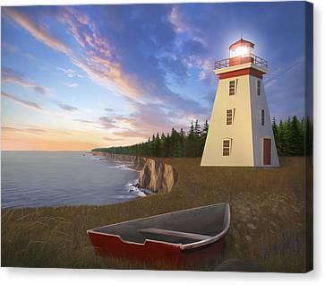 Cape Bear Light Canvas Print by James Charles