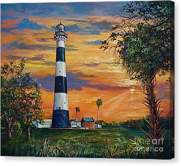 Cape Canaveral Light Canvas Print by AnnaJo Vahle