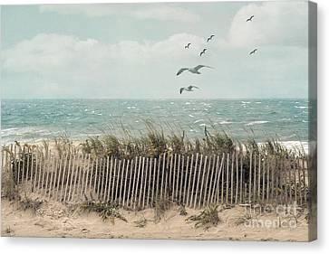 Cape Cod Beach Scene Canvas Print by Juli Scalzi