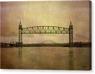 Cape Cod Canal And Bridges Canvas Print by Dave Gordon