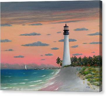 Cape Florida Light Canvas Print by Gordon Beck