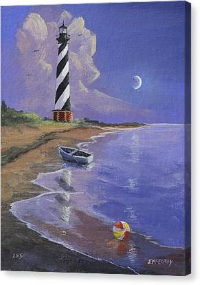 Cape Hatteras Lighthouse Canvas Print by Jerry McElroy