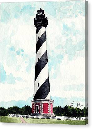 Cape Hatteras Lighthouse Outer Banks North Carolina Canvas Print by Laura Row