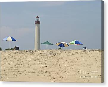 Cape May Lighthouse View Canvas Print by Andrew Kazmierski