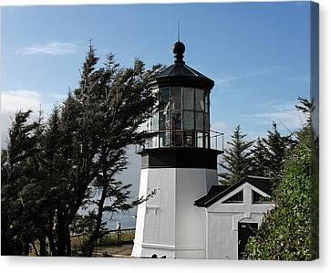 Cape Meares Lighthouse Near Tillamook On The Scenic Oregon Coast Canvas Print by Christine Till