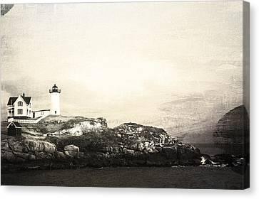 Cape Neddick Light House Canvas Print by Sue OConnor