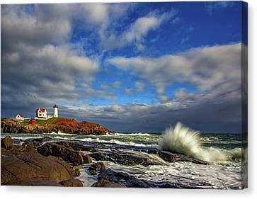 Cape Neddick Lighthouse Canvas Print by Rick Berk