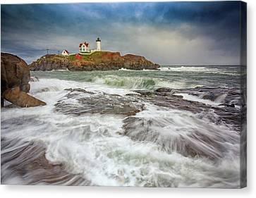 Cape Neddick Storm Canvas Print by Rick Berk