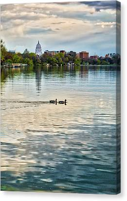 Capitol -madison-wisconsin From Tenney Park Canvas Print by Steven Ralser