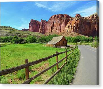 Capitol Reef Barn Canvas Print by Connor Beekman