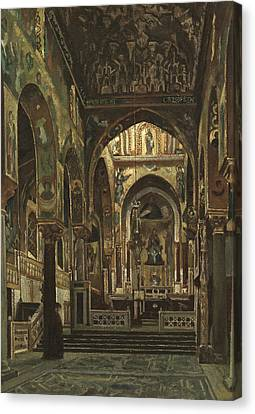 Cappella Palatina, Palermo  Canvas Print by Frederic Leighton