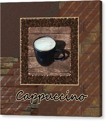Cappuccino - Coffee Art Canvas Print by Anastasiya Malakhova