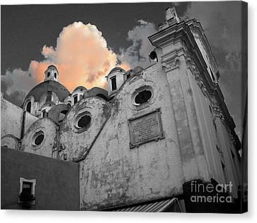 Capri Church Canvas Print by Jim Wright