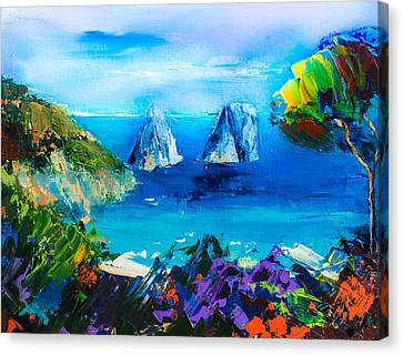 Capri Colors Canvas Print by Elise Palmigiani