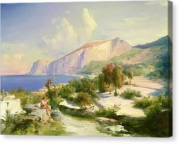 Capri Canvas Print by Karl Blechen