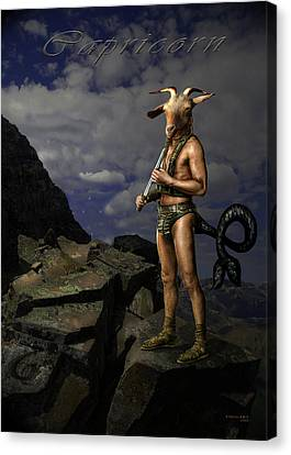 Capricorn Canvas Print by Virginia Palomeque