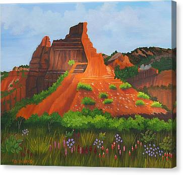 Caprock Canyon Texas Canvas Print by Ruth  Housley