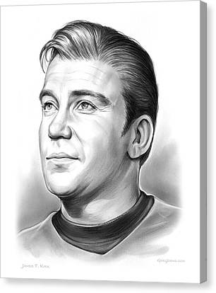Capt. James T. Kirk Canvas Print by Greg Joens