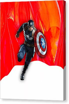 Captain America Collection Canvas Print by Marvin Blaine