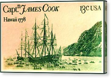 Captain Cook And The Islands Canvas Print by Lanjee Chee