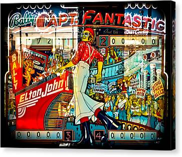 Captain Fantastic - Pinball Canvas Print by Colleen Kammerer