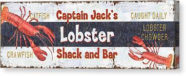 Captain Jack's Lobster Shack Canvas Print by Debbie DeWitt