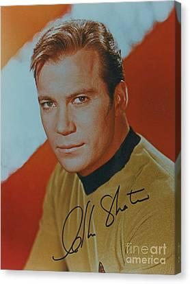 Captain Kirk Autographed Poster Canvas Print by Pd