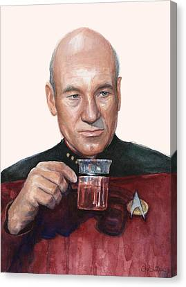 Captain Picard Star Trek Tea. Earl Grey. Hot. Canvas Print by Olga Shvartsur