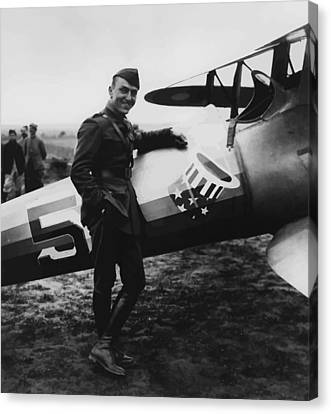 Captain Rickenbacker Canvas Print by War Is Hell Store