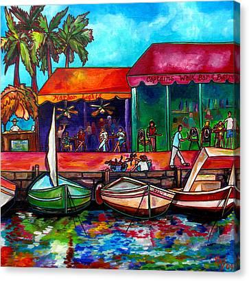 Captains Walk Canvas Print by Patti Schermerhorn