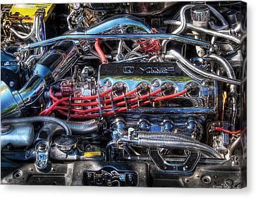 Car - Engine - Car Intestines Canvas Print by Mike Savad