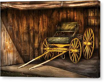 Car - Wagon - The Old Wagon Canvas Print by Mike Savad
