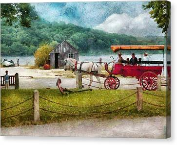 Car - Wagon - Traveling In Style Canvas Print by Mike Savad