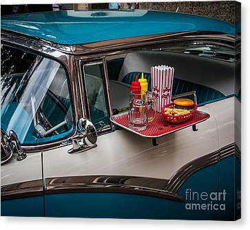 Car Hop Canvas Print by Perry Webster