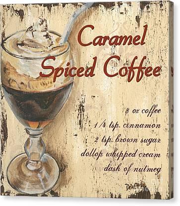 Caramel Spiced Coffee Canvas Print by Debbie DeWitt