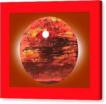 Cardboard Sunset Canvas Print by Gabe Art Inc