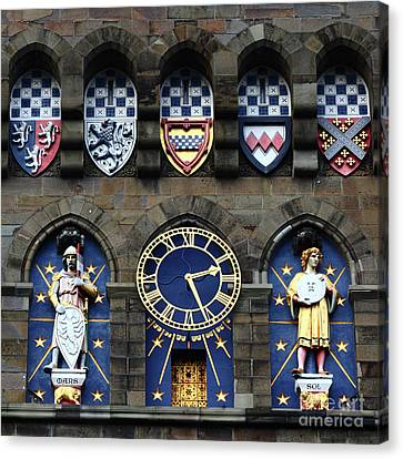 Cardiff Castle Clock Tower Detail 1 Canvas Print by James Brunker