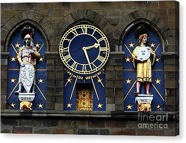 Cardiff Castle Clock Tower Detail 2 Canvas Print by James Brunker