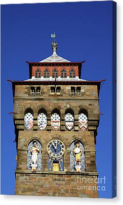 Cardiff Castle Clock Tower Canvas Print by James Brunker