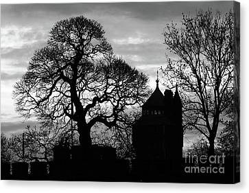 Cardiff Castle Winter Silhouettes Canvas Print by James Brunker