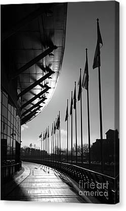 Cardiff Millennium Walk And Stadium Canvas Print by James Brunker