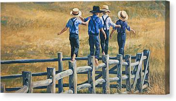 Carefree Life Canvas Print by Laurie Hein