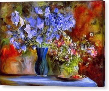 Caress Of Spring - Impressionism Canvas Print by Georgiana Romanovna
