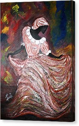 Caribbean Dancer Canvas Print by Laura Fatta