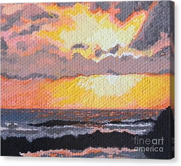 Caribbean Sunset Over Great Bay Canvas Print by Margaret Brooks