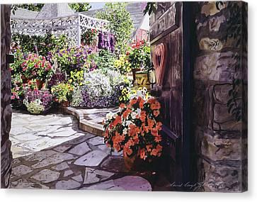 Carmel Garden Gate Canvas Print by David Lloyd Glover