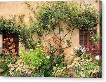 Carmel Mission Windows Canvas Print by Carol Groenen
