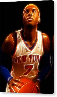 Carmelo Anthony - New York Nicks - Basketball - Mello Canvas Print by Lee Dos Santos