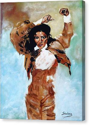 Carmen Amaya Canvas Print by Manuel Sanchez