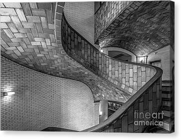 Carnegie Mellon University Baker Hall Stairway Canvas Print by University Icons